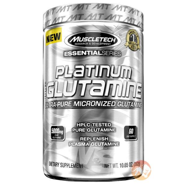 Muscletech Platinum 100% Glutamine | 300g | Unflavoured | BCAA & Essential Amino Acids | Boosts Stores Of The Most Heavily Used Amino Acid In The Body