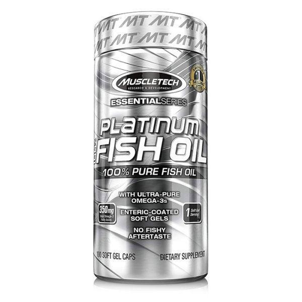 Muscletech Platinum Fish Oil 4X | 60 Softgels | Fish Oils & Essential Fat Supplements | Market-Leading 1200mg Of Omega-3 Per Soft Gel