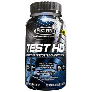 Muscletech Test Hd | 90 Caps | T Booster | Gh Elevation | T Boosters | Comprehensive Hormonal Support