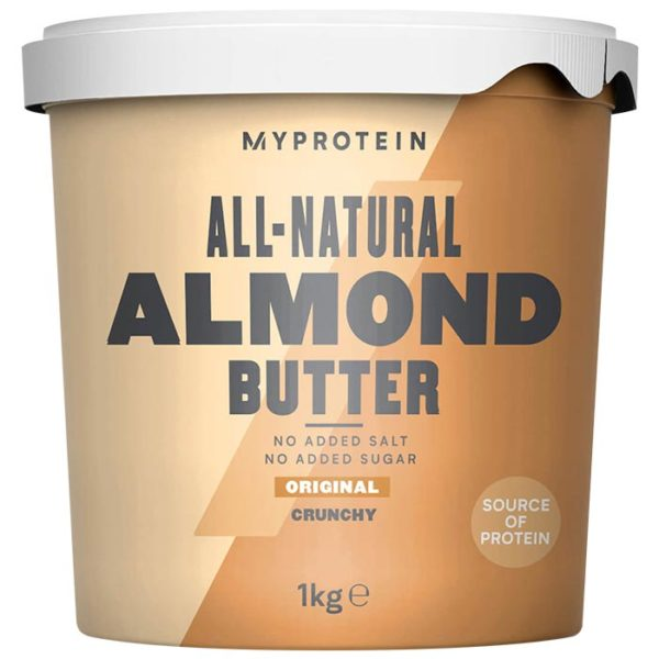 Myprotein Almond Butter | 1000g | Smooth | 100% Almonds With Skin On