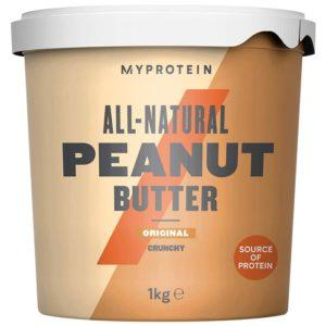 Myprotein Peanut Butter Natural | 1kg | Crunchy Peanut Butter | 100% Peanuts