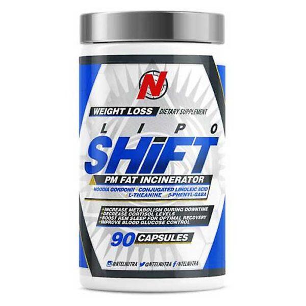 NTEL Nutra Lipo-Shift | 90 Capsules | Non Stimulant Fat Incinerator | Non-Stimulant Fat Burners | Two In One Formula For Fat Burning & Improved Sleep
