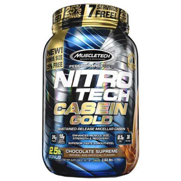 Nitro Tech Casein Gold 1.1Kg Creamy Vanilla
