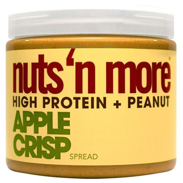 Nuts 'N More Apple Crisp Peanut Butter | 454g | Flavoured Protein Nut Butter | Same Great Peanut Butter Taste, But With Added Apple Flavour