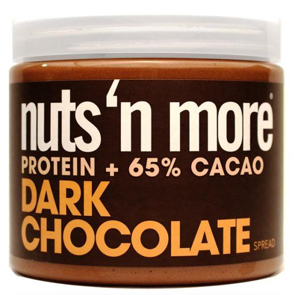 Nuts 'N More Dark Chocolate Peanut Butter Spread | 454g | Nut Butters & Spreads | Get The Decadent Taste & Texture Of Standard Chocolate