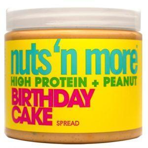Nuts 'N More Nuts N More Birthday Cake Peanut Butter With Sprinkles   454g   Nut Butters & Spreads   Contains Birthday Cake Sprinkles In Peanut Butter