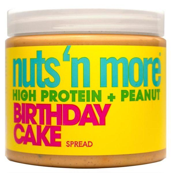 Nuts 'N More Nuts N More Birthday Cake Peanut Butter With Sprinkles | 454g | Nut Butters & Spreads | Contains Birthday Cake Sprinkles In Peanut Butter