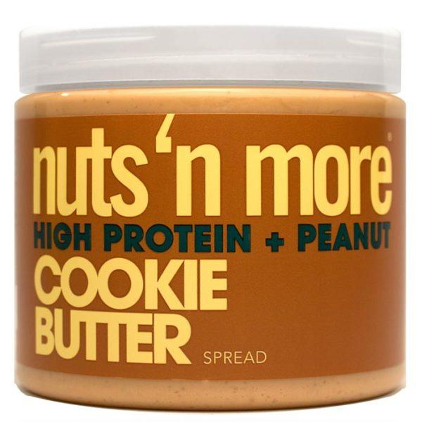 Nuts 'N More Nuts N More Cookie Butter | 454g | High Protein Peanut Butter | Protein Desserts & Cooking Mixes | High In Whey Protein Isolate