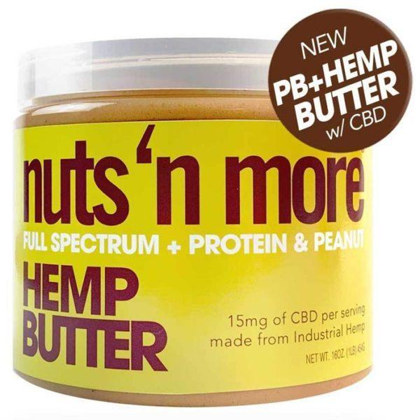 Nuts 'N More Nuts N More Hemp Peanut Butter   454g   Nut Butters & Spreads   Contains 15mg Of Cbd Per Serving