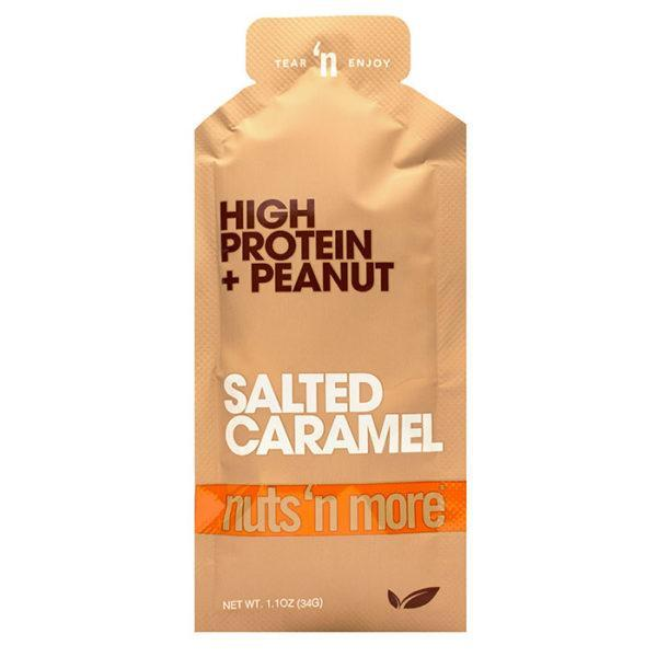 Nuts 'N More Nuts N More High Protein Peanut Spread | 10 Pack | Salted Caramel | Easier Way To Enjoy Peanut Butter