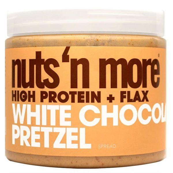 Nuts 'N More Nuts N More White Chocolate Pretzel | 454g | White Chocolate & Pretzel | Peanut Butter Protein Spread | UK Exclusive Flavour