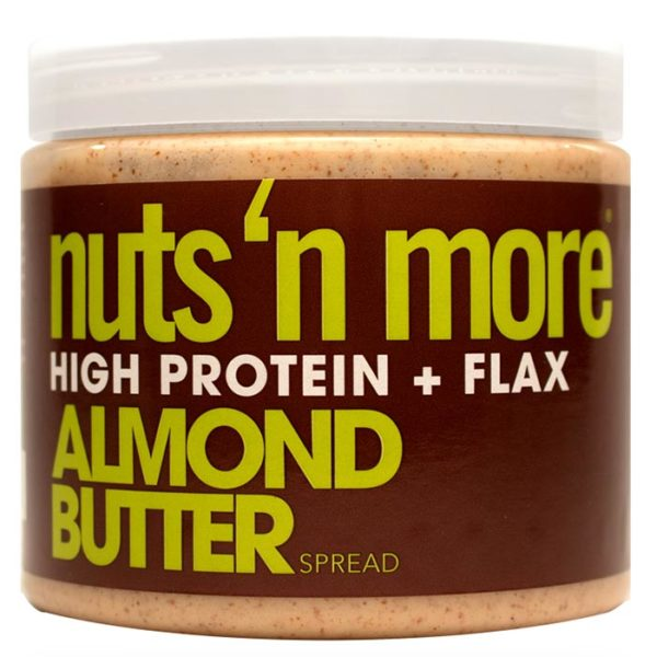 Nuts 'N More Nuts'n More Almond Butter Spread | 454g | Omega 3 | Nut Butters & Spreads | High Protein Almond Butter