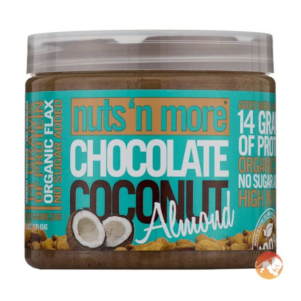 Nuts 'N More Nuts'n More Chocolate Coconut Almond Butter | 454g | Nut Butters & Spreads | High In Omega-3 Fats