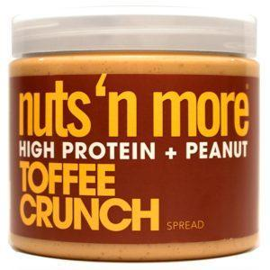 Nuts 'N More Nuts'n More Toffee Crunch Peanut Butter | 454g | High Protein Spread | Great Tasting High Protein Nut Butter