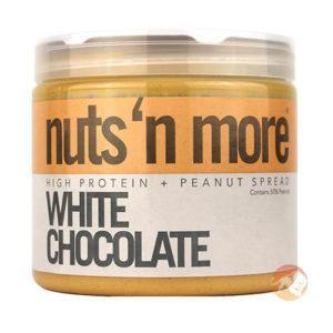 Nuts 'N More Nuts'n More White Chocolate Peanut Butter | 454g | Nut Butters & Spreads | High In Omega-3 Fats
