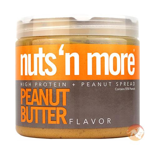 Nuts 'N More Peanut Butter | 454g | Nut Butters & Spreads | Peanut Butter With Turbo Chargers On