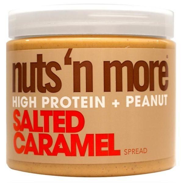 Nuts 'N More Salted Caramel Peanut Butter | 454g | Tasty Spread | Nut Butters & Spreads | High Source Of Protein, 12g Per Serving