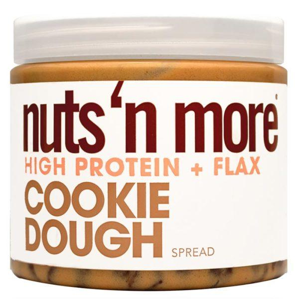 Nuts'n more Nuts N More Cookie Dough | 454g | High Protein Peanut Butter | Protein Desserts & Cooking Mixes | Added Flax For A Balanced Fatty Acid