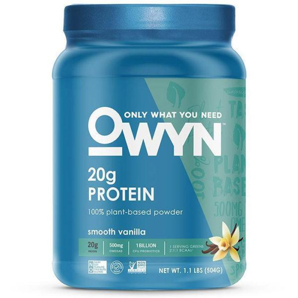 OWYN Only What You Need Plant Protein | 539g | Smooth Vanilla | Vegan Protein Powder | 100% Plant Based Nutrition