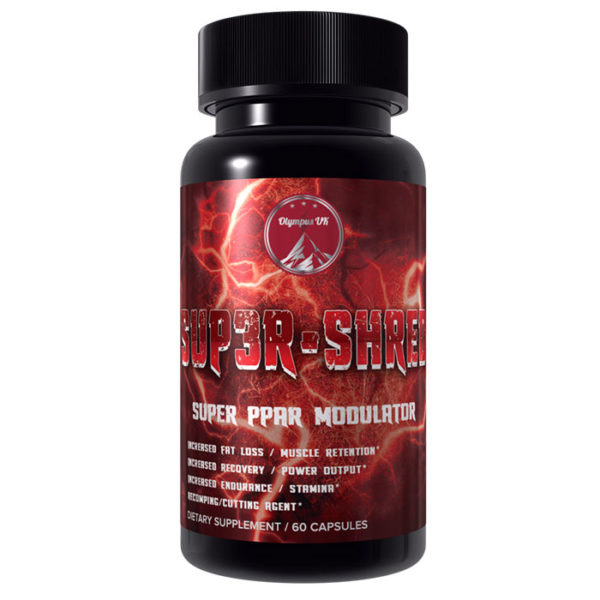 Olympus Labs Sup3R Shred | 60 Caps | Fat Burner | Boosts Cardio | Non-Stimulant Fat Burners | Targets The Rare Ppar Pathway