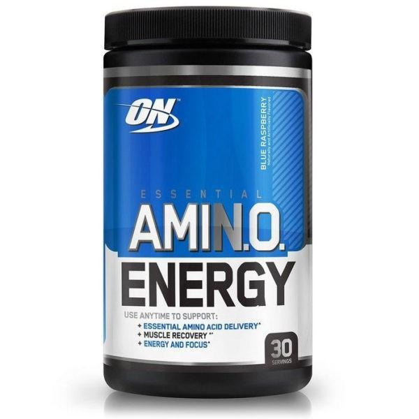 Optimum Nutrition Amino Energy | 30 Servings | Blue Raspberry | Exclusive Usa Flavours | BCAA & Essential Amino Acids | 7 Flavours Exclusively