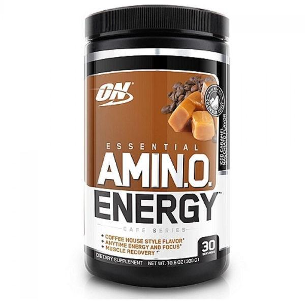 Optimum Nutrition Amino Energy | 30 Servings | Iced Caramel Macchiato | Exclusive Usa Flavours | BCAA & Essential Amino Acids | 7 Flavours