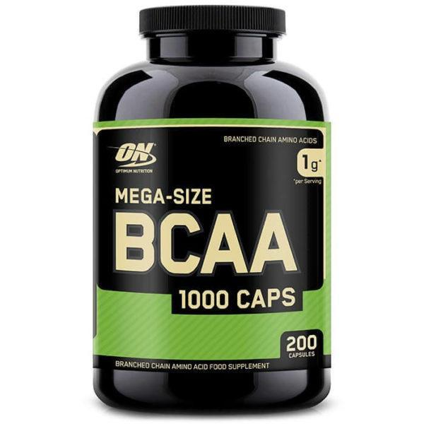 Optimum Nutrition BCAA 1000 | 200 Capsules | Tablet BCAA's | Recovery Supplement | BCAA & Essential Amino Acids | Proven 2:1:1 Ratio Of BCAA's
