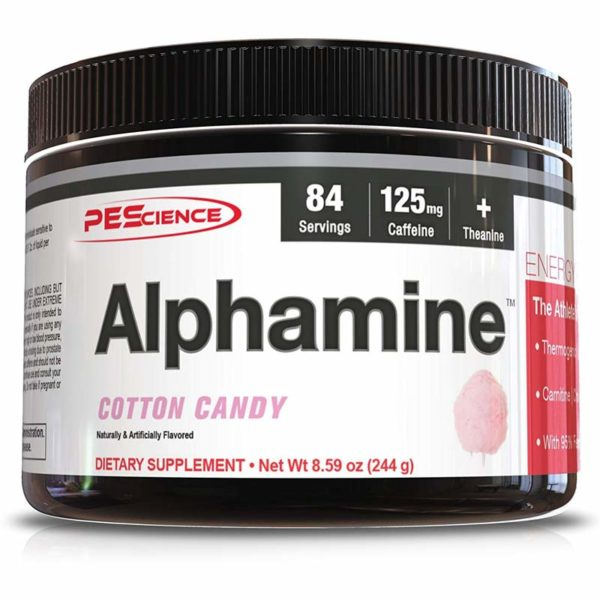 PEScience Alphamine | 84 Servings | Cotton Candy | Alpha 5 Fat Burner | Fat Burners | The Ultimate Feel Good Fat Loss Drink