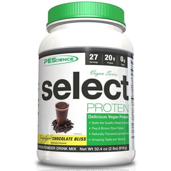 PEScience Natural Select Vegan Protein | 27 Servings | Chocolate Bliss | Vegan Protein Powder | Naturally Sweetened With Stevia