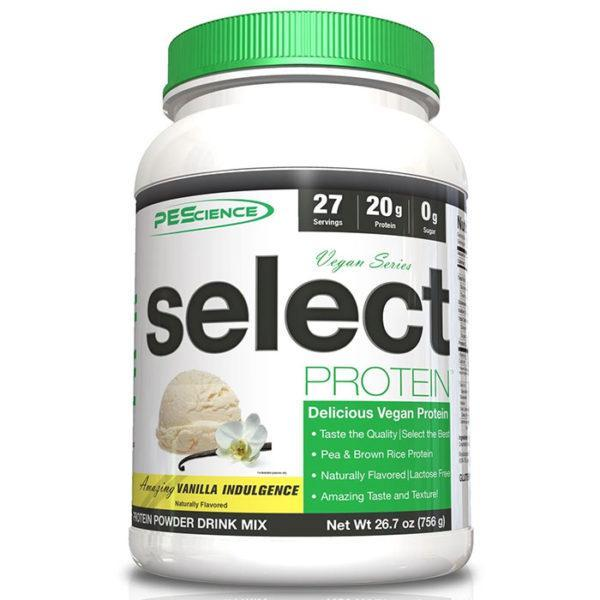 PEScience Natural Select Vegan Protein | 27 Servings | Vanilla Indulgence | Vegan Protein Powder | Naturally Sweetened With Stevia