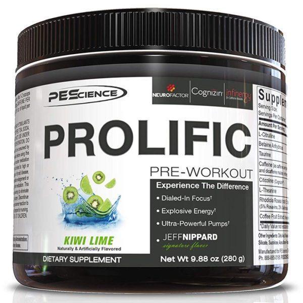 PEScience Prolific | 20 Servings | Raspberry Lemonade | Ergogenic Pre-Workout | Nootropic Focus | Pre-Workout Supplements | Energy, Pumps