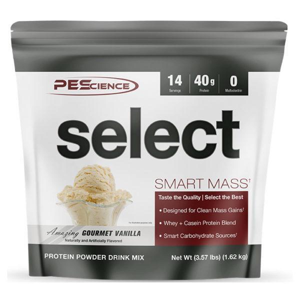 PEScience Select Smart Mass | 14 Servings | Gourment Vanilla | Weight Gainer Powder | Protein Powder | 40g Premium Whey & Casein Protein