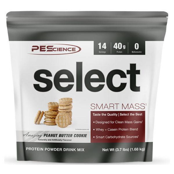PEScience Select Smart Mass | 14 Servings | Peanut Butter Cookie | Weight Gainer Powder | Protein Powder | 40g Premium Whey & Casein Protein