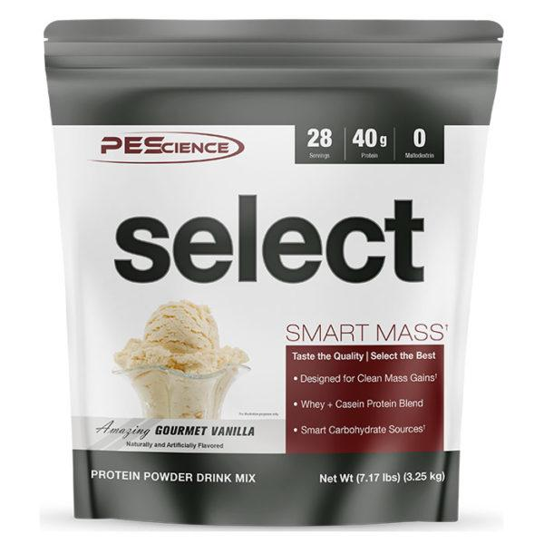 PEScience Select Smart Mass | 28 Servings | Gourmet Vanilla | Weight Gainer Powder | Protein Powder | 40g Premium Whey & Casein Protein