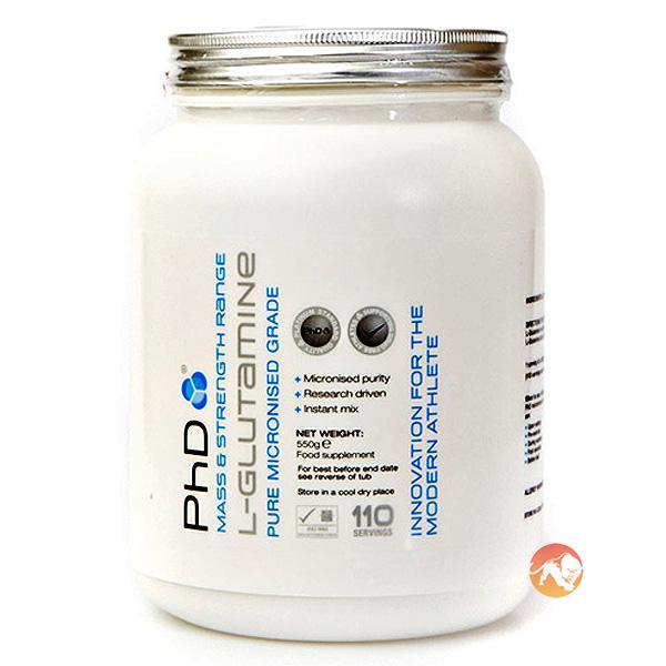PHD Nutrition Micronised L-glutamine | 250g | Glutamine Supplements | Pure Micronized L-glutamine