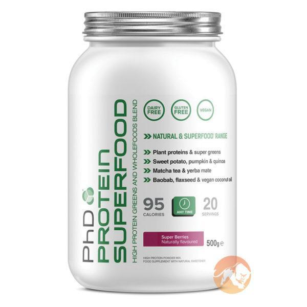 PHD Nutrition Phd Protein Superfood | 500g | Banana | Vegan Protein Powder | A Blend Of Plant Proteins, Fruits & Berries, Wholefoods & Greens