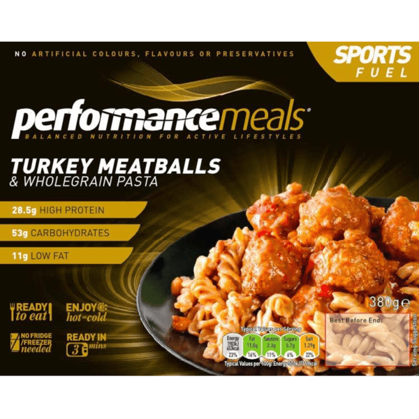 Performance Meals Turkey Meatballs & Wholegrain Pasta