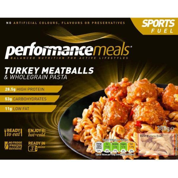 Performance Meals Turkey Meatballs & Wholegrain Pasta