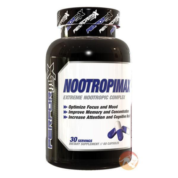 Performax Labs Nootropimax | 60 Capsules | Nootropic Supplement | Nootropic Supplements & Boost Mental Performance | Ten Scientifically Backed
