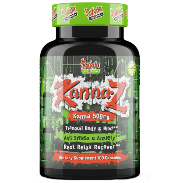 Pyscho Pharma Psycho Pharma Kanna | 60 Caps | Relax & Unwind | Nootropic Supplements & Boost Mental Performance | Promote Relaxation & Mental