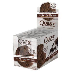 Quest Nutrition Quest Cookies | 12 Cookies | Double Chocolate Chip | High Protein | Whey Isolate & Whey Hydrolysate | High Quality Ingredients Like