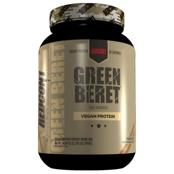 REDCON1 Green Beret | 30 Servings | Peanut Butter | Vegan Protein Powder | Protein Powder For Vegan Bodybuilders