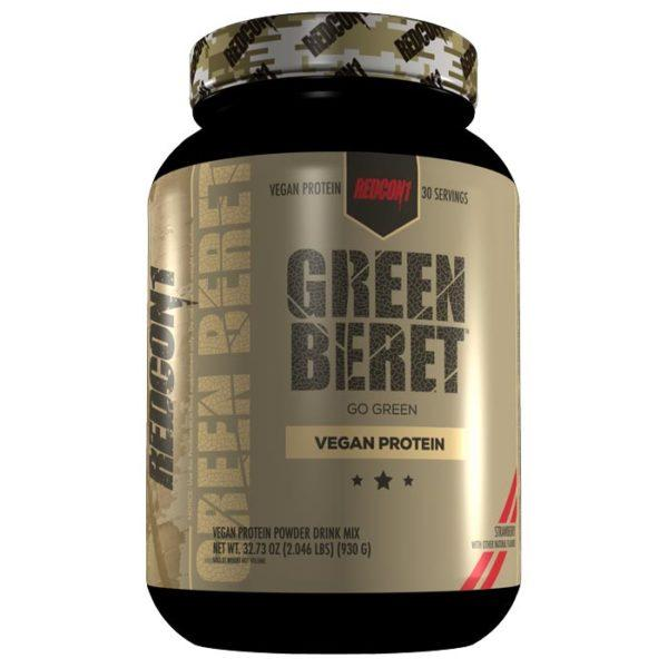 REDCON1 Green Beret | 30 Servings | Strawberry | Vegan Protein Powder | Protein Powder For Vegan Bodybuilders