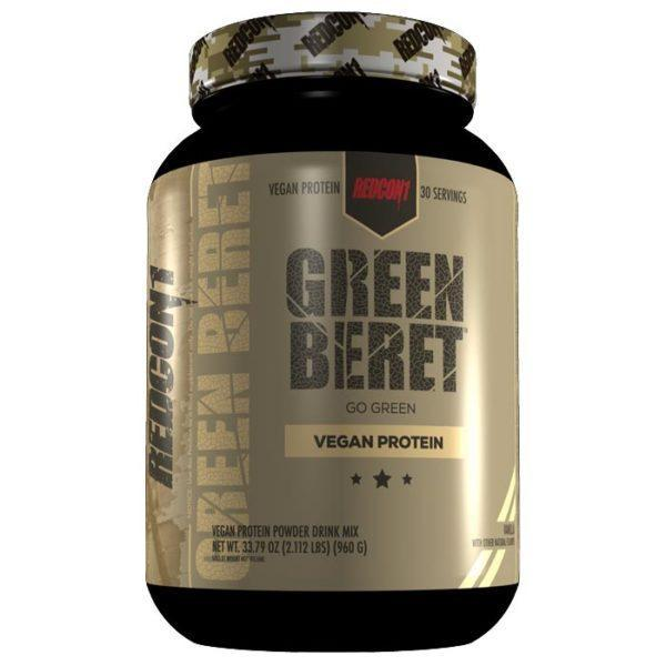 REDCON1 Green Beret   30 Servings   Vanilla   Vegan Protein Powder   Protein Powder For Vegan Bodybuilders