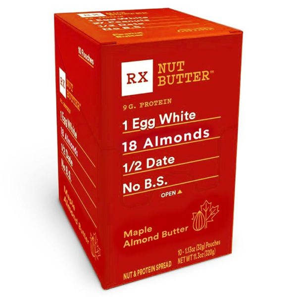 RX Bar High Protein Nut Butter Maple Almond | 10 Pack | Maple Almond Butter | Natural Ingredients With No Artificial Flavourings Or Preservatives