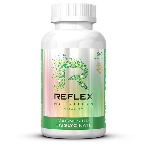 Reflex Nutrition Magnesium Bisglycinate | 90 Capsules | Sleep Aid Supplements | Chelated Highly Bioavailable Form Of Magnesium