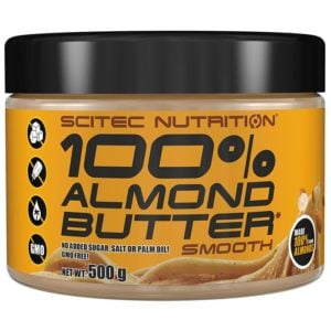 Scitec Nutrition 100% Almond Butter | 500g | All Natural | Nut Butters & Spreads | 100% Pure Almonds, No Added Ingredients