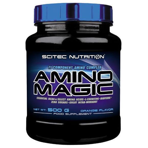 Scitec Nutrition Amino Magic | 25 Servings | Orange | Recovery Amino Formula | Glutamine Supplements | 11 Amino Acid Formula