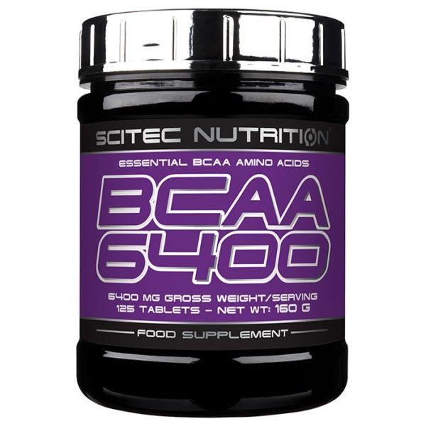 Scitec Nutrition BCAA 6400 | 125 Tablets | BCAA & Essential Amino Acids | Convenient Source Of The Three Key Branched Chain Amino Acids
