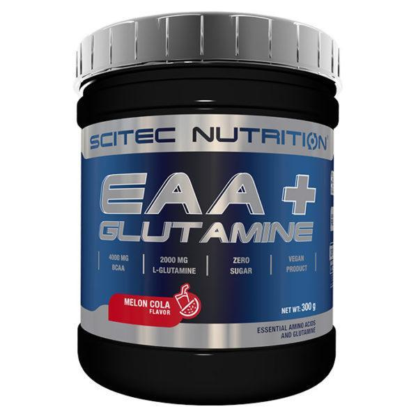 Scitec Nutrition Eaa+ Glutamine | 300g | Mango | Intra Workout | BCAA & Essential Amino Acids | 4000mg Of BCAAs
